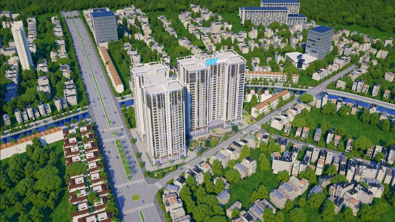 Phối cảnh dự án Chung cư Sky Central